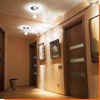 Освещение потолка в прихожей