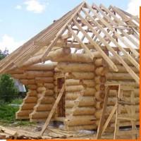 Строительство бани на дачном участке из леса Карелии