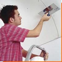 Как зашпаклевать гипсокартонный потолок