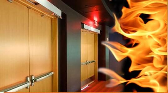 Испытание противопожарных дверей на огнестойкость