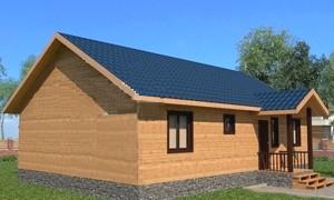 Готовый проект одноэтажного дома из бруса 8x11