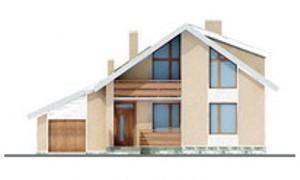 Готовый проект дома из бруса с гаражом 10x10