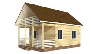 Готовый проект дома из бруса с мансардой 6х9