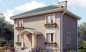 Готовый проект двухэтажного дома из газобетона
