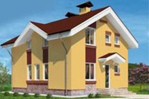 Готовый проект двухэтажного дома из керамзитоблока