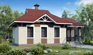 Готовый проект одноэтажного дома из пеноблока